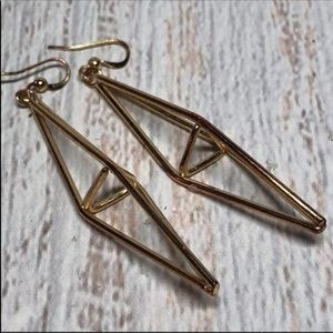 Vintage Geometric Dangly Point Earrings 13